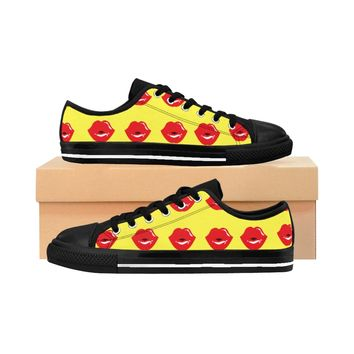 Women Lip Yellow Sneakers