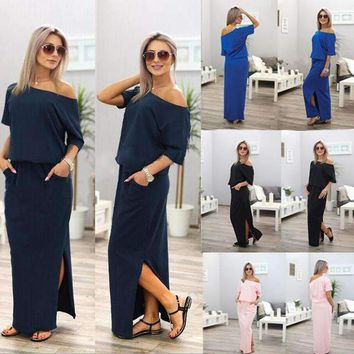 Women's Slit Maxi Dress