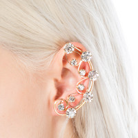 Faux Jeweled Wire Ear Cuff