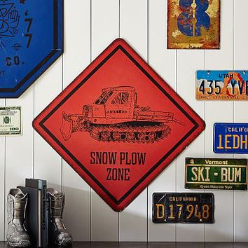Burton Snow Plow Sign