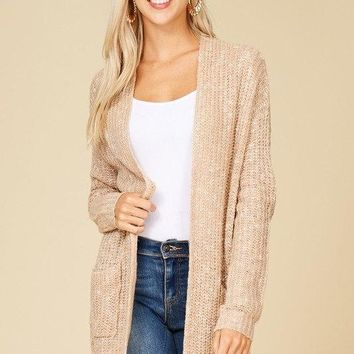 Two-Tone Cardigan (Blush)