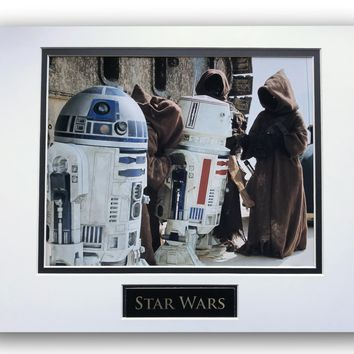 STAR WARS R2-D2 R5-D4 MATTED LICENSED 8X10 PHOTO FOR FRAME 11X14 NEW HOPE