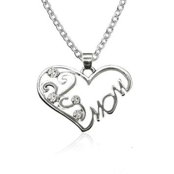 DCCKJ6E Shiny Jewelry Gift Stylish New Arrival Hot Sale Simple Design Heart Diamonds Rhinestone Accessory Necklace [10754919951]