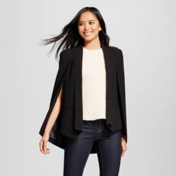 Women's Cape Blazer - Alison Andrews® Black