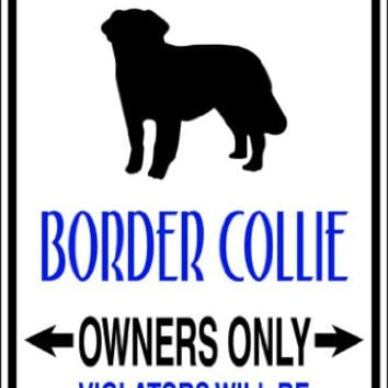 Design With Vinyl Design 622 Parking for Border Collie Vinyl 9 X 18 Wall Decal Sticker