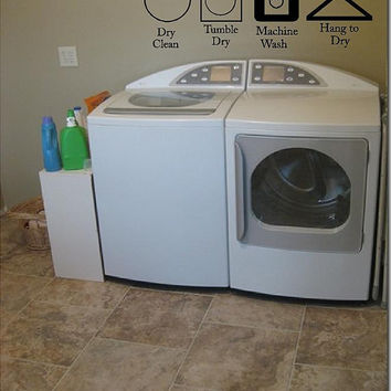 Laundry Room Washing Symbols and Instructions Vinyl Wall Decal-Vinyl Wall Decal-Wall words-wall lettering