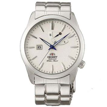 Orient FD0E001W Men's Millenium Automatic White Dial Stainless Steel Power Reserve Watch