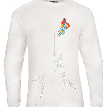 Men's Giant Marlin L/S UV Fishing T-Shirt