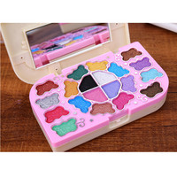 Portable Primer 20 colors Makeup Shimmer Eye Shadow palette powder lip gloss Blusher set Candy box shape Kids eyeshadow Cosmetic