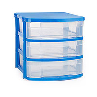 Blue 3-Drawer Desktop Organizer