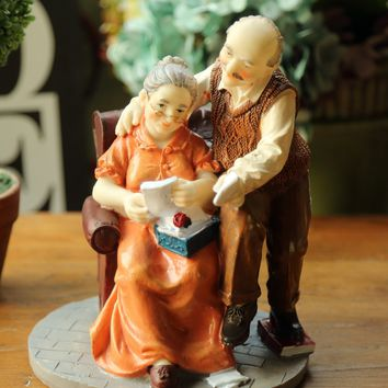 Elderly Couple Decorative Object