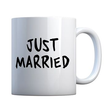 Mug Just Married Ceramic Gift Mug