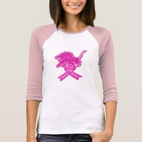 Spicy Pink Lion Ribbon T-Shirt