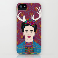 DEER FRIDA iPhone & iPod Case by Bianca Green