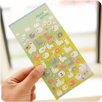 1 x cute alpaca 3D bubble sticker decorative decal sticker diy ablum diary scrapbooking kawaii stationery post it