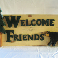 Door Welcome Signs, Welcome Signs, Rustic Welcome Signs, Wood Signs