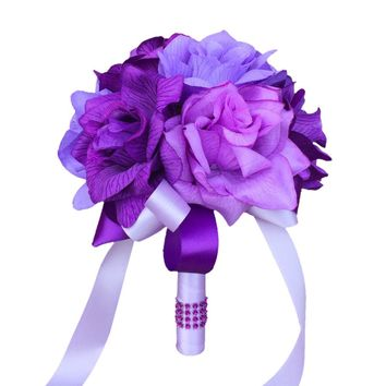 "7.5"" Bouquet-Purple Lilac Lavender"