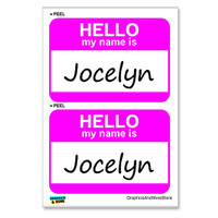 Jocelyn Hello My Name Is - Sheet of 2 Stickers