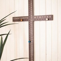Wooden Cross Calendar