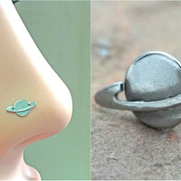 Saturn Nose Bone Nose Stud