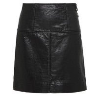 JONAH BONDED LEATHER A LINE SKIRT