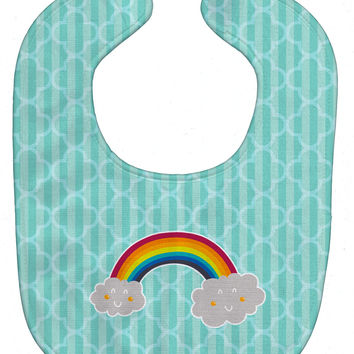 Rainbow in Clouds Baby Bib BB6789BIB