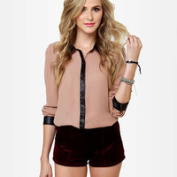 Cute Blush Top - Button-Up Top - $45.00