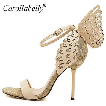Women Sandals 2017 High Heels Women Pumps Colorful Butterfly Heeled Shoes Sexy Wedding Shoes Bridal Shoes