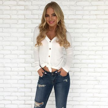 Knit Happens Top in Ivory