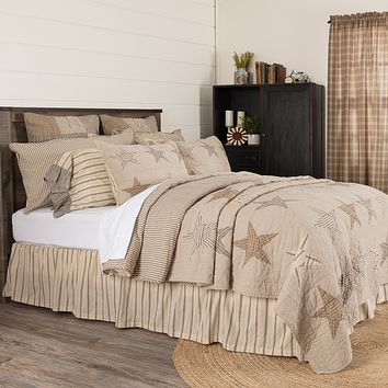 Sawyer Mill Star Charcoal California King Quilt
