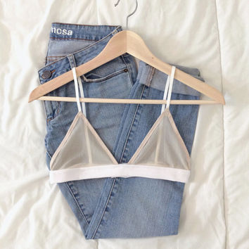 Lauren Illusion Bralette in Nude from LA With Love