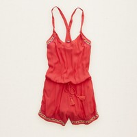 AERIE EMBROIDERED ROMPER
