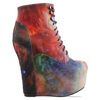 Black Milk X Jeffrey Campbell Damsel in Rainbow Galaxy at Solestruck.com