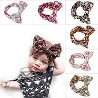 Cute Fashion Infant Baby Girls Hair Accessories Kids Toddler Dot Bows Hairband Turban Knot Rabbit Headband Headwrap Bandage 6pcs