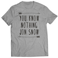 You Know Nothing Jon Snow T Shirts Mens T Shirt
