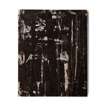 "Bruce Stanfield ""Distressed Grunge 101"" Black White Painting Birchwood Wall Art"