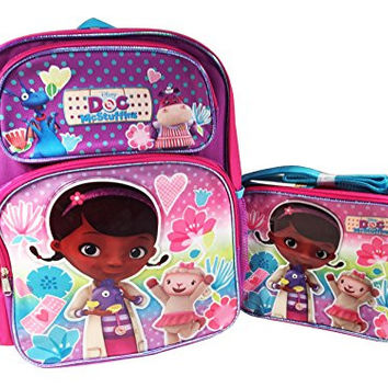 "Disney Doc McStuffins 16"" Large Backpack with Lunch Box"