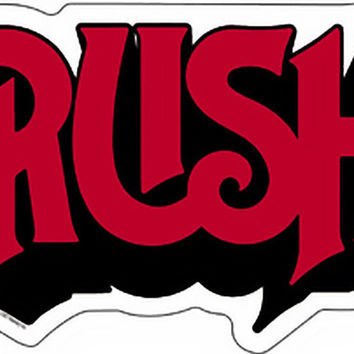 Rush Vinyl Sticker Red Letters Logo