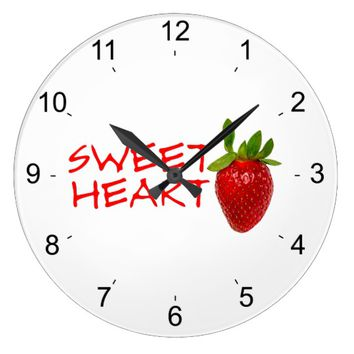 Strawberry Sweetheart Large Clock