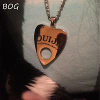 BOG- Lot 1 pcs Stainless Steel Pendant Ouija Board Planchette Necklace 24 Inch Copper Chain Ouija Board pendant  Jewelry