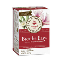 Traditional Medicinals Breathe Easy Herbal Tea - Caffeine Free - 16 Bags