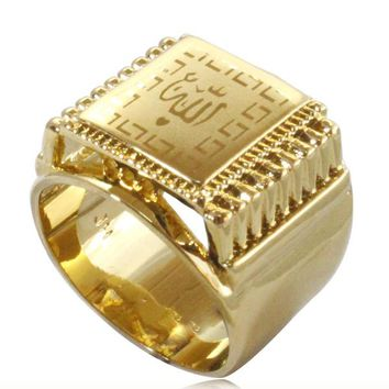 Islam Muslim Allah  ring for men & women, charm Arabic fashion jewelry gift