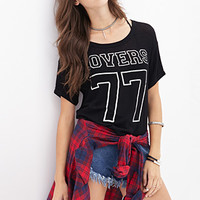 FOREVER 21 Lovers 77 Knit Tee Black/Silver