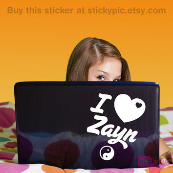 ~>I Heart Zayn<~ One Direction Laptop Decal by stickypic