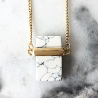 Marble Block Necklace