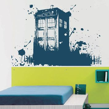ik2254 Wall Decal Sticker Time Machine Spaceship tardis doctor who bedroom