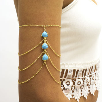 Triple Turquoise Arm Chain