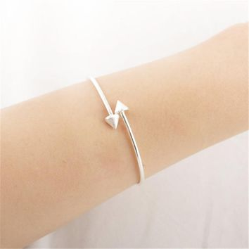 Spike Cuff Double Arrow Bangle Bracelet Adjustable - 12 pieces