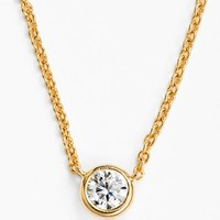 BaubleBar Round Crystal Pendant Necklace (Online Only)