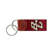 Boston College Needlepoint Key Fob in Red by Smathers & Branson